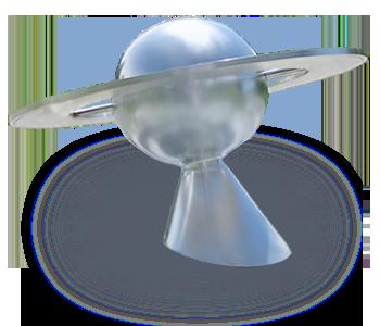 Saturn-Modell am Donauplanetenweg