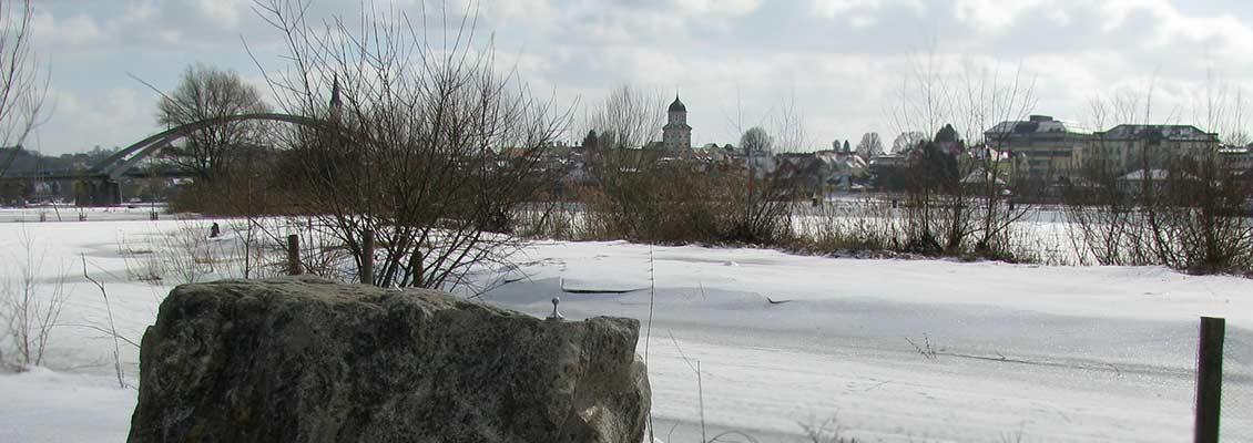Der Donauplanetenweg im Winter